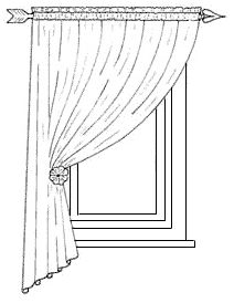 An asymmetrical curtain will be more effective than full curtains on a small window