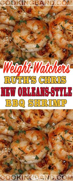 Ruth's Chris New Orleans-Style Weight Watchers BBQ Shrimp Ww Recipes, Shrimp Recipes, Fish Recipes, Low Carb Recipes, Healthy Recipes, Brunch Recipes, Dessert Recipes, Shrimp Dishes, Fish Dishes