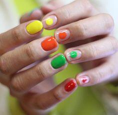 Nail Unistella by EK . Lab — [#유니스텔라트렌드]❤️  알록달록 귀여운 #레인보우네일  #원형네일 #미니멀네일 이예요~... Korean Nail Art, Korean Nails, Finger Painting, Nail Polish Colors, Nails Inspiration, Fungi, Pretty Nails, Manicure, Nail Designs