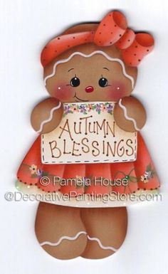 The Decorative Painting Store: Autumn Blessings Ginger ePattern by Pamela House.