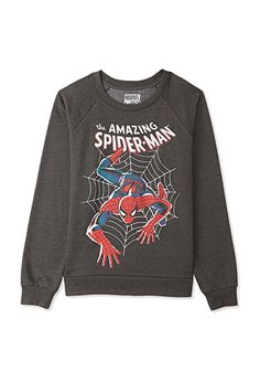 The Amazing Spider-Man™ Raglan Sweatshirt from Forever Saved to Comfy Clothes. Cheap Hoodies, Cool Hoodies, Graphic Shirts, Graphic Sweatshirt, Long Sleeve Tops, Long Sleeve Shirts, Long Shirts, Marvel Clothes, Raglan Shirts
