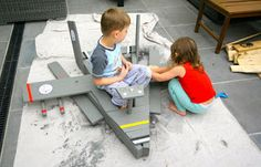 Style My Home: Wooden Palette into Kids Jet Plane