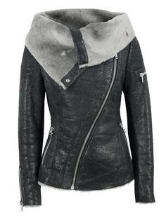 Sale - Ash Arnelle Black Leather Biker Jacket at Coggles
