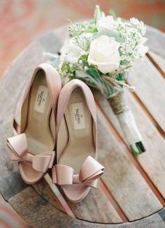 Walk down the aisle in your favorite pair of nude Valentino High Heels.