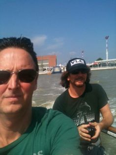 Mike & Ed.in a boat Mookie Blaylock, Pearl Jam Eddie Vedder, Dear Dad, My Church, Music Icon, Great Bands, Choir, A Good Man, Beautiful Day