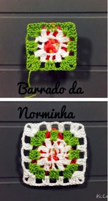 "OFICINA DO BARRADO: Croche - PAP Barrado com ""Amor Perfeito"" ..."