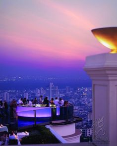 Sirocco, the largest and most famous Skybar, if you're a large party or looking for a good party vibe.