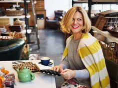 Erica Davies wears head-to-toe Boden. February 2015.