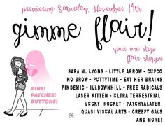 My new flair shop opening this Saturday online! gimme flair- tell your friends! #flair #patches #pins www.gimmeflair.com