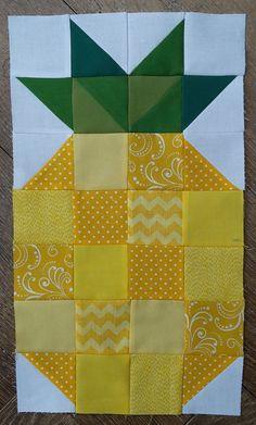 https://flic.kr/p/BQju7R | 16 Stash Bee January | A fun pineapple block for Alison.
