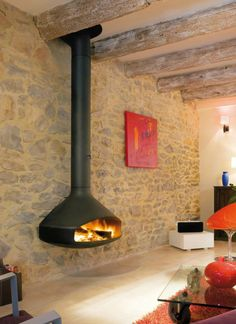 Wall Mounted Focus | Custom Fireplace Design - Paxfocus, Levity Fireplace