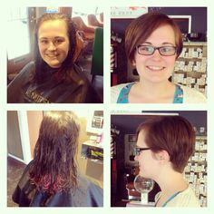 Before and after pixie haircut by Sarah