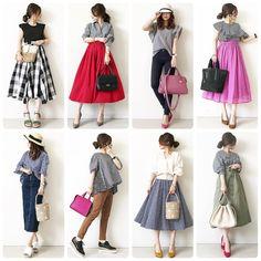 低身長さん必見!manaさんに学ぶスタイルupのお洒落コーデ術♡ in 2019 40s Fashion, College Fashion, Japan Fashion, Cute Fashion, Skirt Fashion, Korean Fashion, Fashion Outfits, Womens Fashion, Fashion Trends
