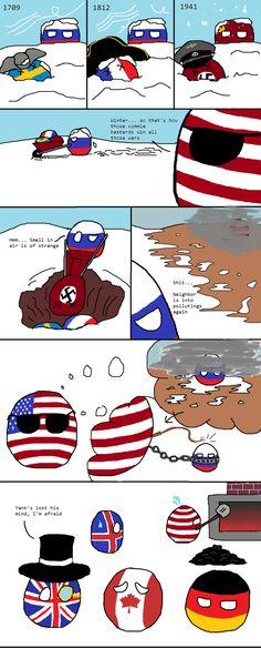 """America hatches a plot""  #polandball #countryball #flagball"