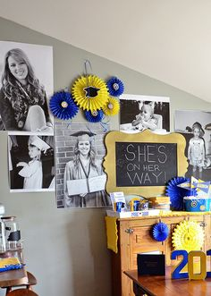 Have pictures printed in large scale at copy center for a giant photo wall for your next party! Large impact for little cost!