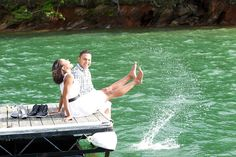 I will so have a picture like this .. lake wedding :)