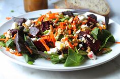 The Busy Baker: Roasted Beet Salad with Goat Cheese and Orange Vinaigrette