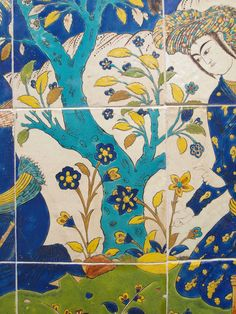 V & A Museum, Tile Panels, Outdoor Food, Iranian Art, Moroccan Design, Mille, China Painting, Moorish, Islamic Art