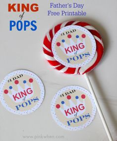 A free Father's Day Printable for the #1 DAD in your life - The KING of POPS