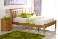 Carlton Solid Oak Bed Frame 4ft - Small Double | The Oak Bed Store