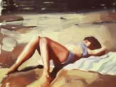 sunbathing by Mary Sinner | Artfully Walls