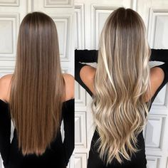 Golden Blonde Balayage for Straight Hair - Honey Blonde Hair Inspiration - The Trending Hairstyle Hair Color Highlights, Ombre Hair Color, Hair Color Balayage, Blonde Ombre, Blonde Balayage Highlights, Natural Blonde Balayage, Blonde Hair Looks, Honey Blonde Hair, Brown To Blonde