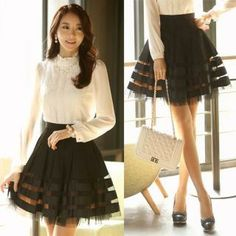 Buy 'Styleonme � A-Line Striped Lace Skirt' with Free International Shipping at YesStyle.com. Browse and shop for thousands of Asian fashion items from South Korea and more!