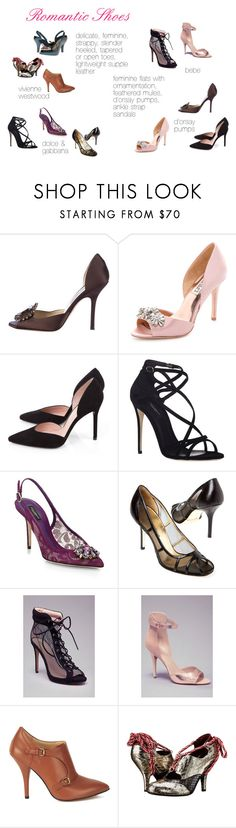 """Romantic Shoes"" by expressingyourtruth ❤ liked on Polyvore featuring Jimmy Choo, Badgley Mischka, Stuart Weitzman, Dolce&Gabbana, Bebe and Vivienne Westwood"