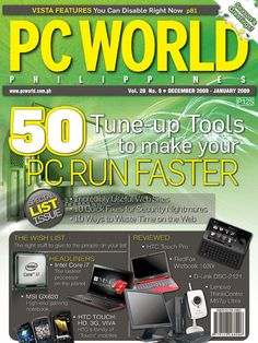 PCWorld Philippines January  2009 cover