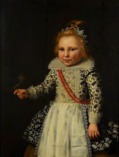 Portrait of a child with a bird by Wybrand de Geest, 1610s (PD-art/old), Muzeum - Zamek w Oporowie