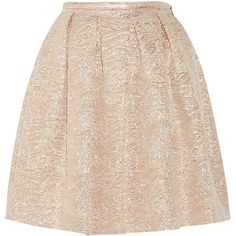 Rochas Swan pleated metallic brocade skirt (1.270 BRL) ❤ liked on Polyvore featuring skirts, bottoms, faldas, saia, rose skirt, pink skirt, brocade skirt, metallic pleated skirt and pink pleated skirt