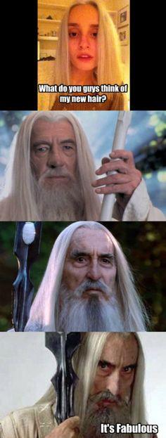 Fabulous wizard hair.