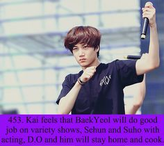 Exo Facts. He wants to stay with kyungsoo and cook together OML like a married couple MY KAISOO FEELS