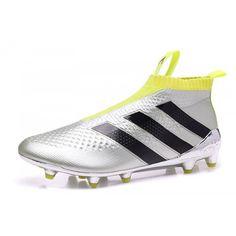Kopen Goedkoop Kopen Adidas ACE 16 Purecontrol FG Zilver Geel Voetbalschoenen NL