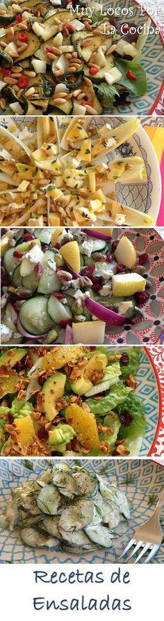 Una recopilación de las recetas de ensaladas de Muy Locos Por La Cocina. Puedes encontrarlas en www.muylocosporlacocina.com.