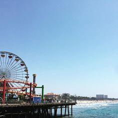 o almoço hj teve essa vista aí  #santamonica #california by cappra