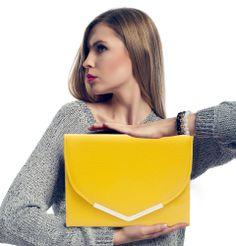 Yellow Oversized Clutch Bag from WOWBAG. Oversized Clutch, Simple Elegance, Dapper, Clutch Bag, Fashion Forward, Boss, Range, Yellow, Design