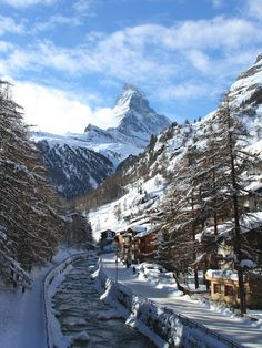 The Matterhorn over Zermatt, Switzerland