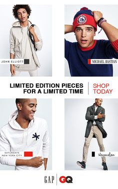 7f6b23a53646 Discover the latest limited edition collections from Gap  amp  GQ s Class  of 2016. To