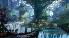 Fantastic colorful environments by Tyler Edlin