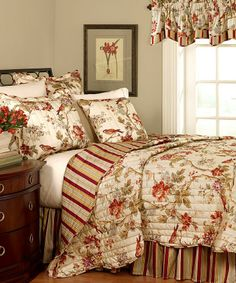 Historic Charleston Chirp Full-Queen Quilt Set by Waverly Bedding. Twin Quilt, Quilt Bedding, Bed Quilts, Nursery Bedding, Girl Nursery, Bed Sets, Waverly Bedding, King Quilt Sets, Queen Quilt