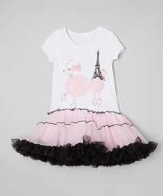 Look at this Inspiration Group White & Pink Poodle Tutu Dress - Infant, Toddler & Girls on today! Parisian Party, Pink Poodle, Infant Toddler, Toddler Girls, Infant Girls, Dress Up Costumes, Glam Girl, Cute Girl Outfits, Halloween Dress