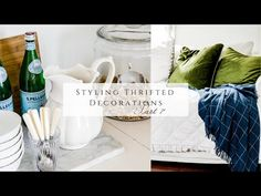 Styling Thrifted Decorations, part 7 - YouTube Bring Them Home, Homemaking, Thrifting, The Creator, Table Decorations, Youtube, Blog, Diy, Style