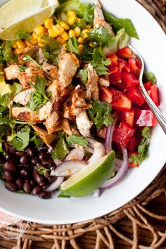 Southwest Chicken Chopped Salad with Chipotle Honey Dressing by Smells