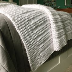 "Fifty Four Ten Studio: ""Where the Sidewalk Ends"" - Easy Blanket Knitting Pattern. Knit with super bulky yarn. I loved making this blanket with Lion Brand Hometown USA in 'New York White'. Five Sizes: Baby, Crib, Medium & Large Throw, XL Afghan."