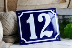 11 x 14 cm 43 x 55 Custom Blue Porcelain Enamel by enamelsign, $69.00