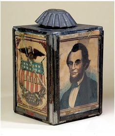American Civil War Artifacts -                                                      Abraham Lincoln Lantern, 1864. Tin, glass, paper. New-York Historical Society, Purchased from Elie Nadelman, 1937.585