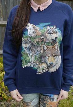 Wildlife Seven Wolves Jumper, Sweatshirt, Sweater, Wolf, New