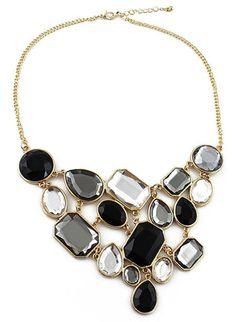 Multi Gemstone Gold Splice Necklace EUR€6.04