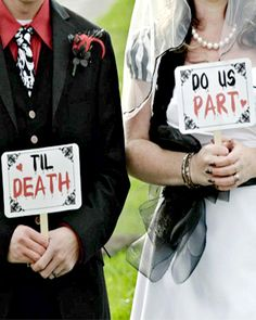 Halloween Wedding sign idea! so cute